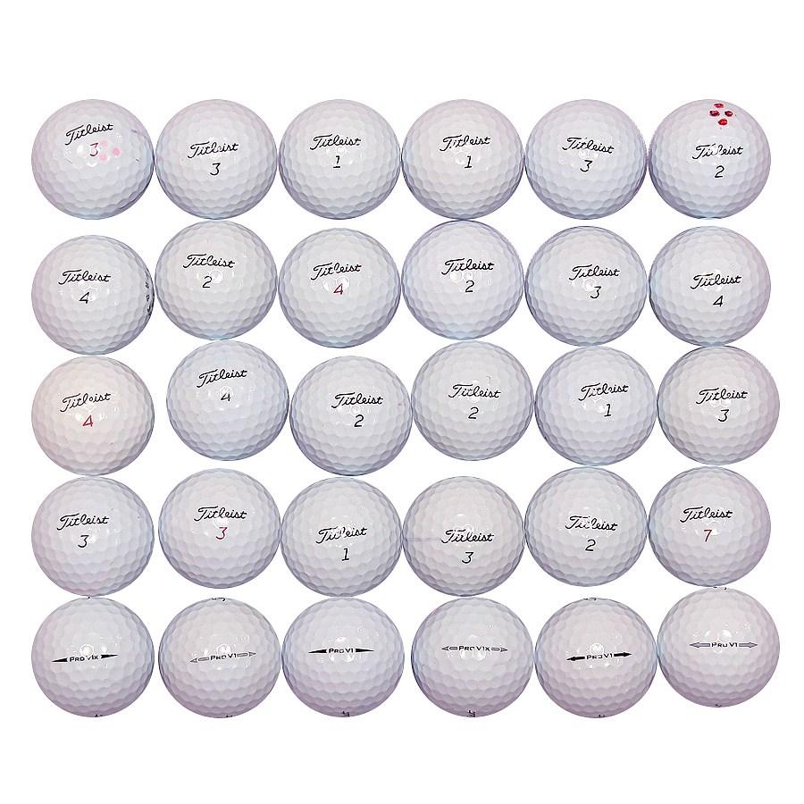 타이틀리스트 PRO V1 V1X혼합 로스트볼, 흰색 로스트볼 : A, 30개