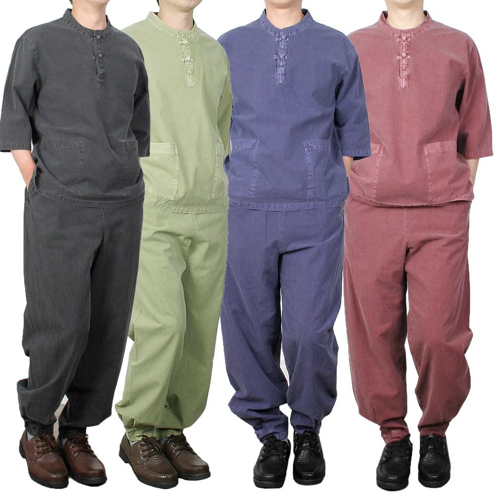 단아한의 여름 남여공용 남성 생활한복 저고리 바지 절옷 절복 생활한복(개량한복) / 아랑7부세트