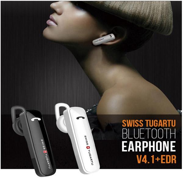 스위스투가루트 업무용 운전용 블루투스 이어폰, 01_블루투스 한쪽 이어폰(STBT-100 블랙)