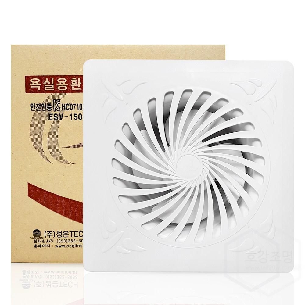 에코라인 국내산 환풍기 욕실용 ESV-150G, 1개