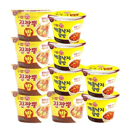 맛있는 오뚜기 컵밥 진짬뽕밥5입+매콤낙지덮밥5입, 1세트