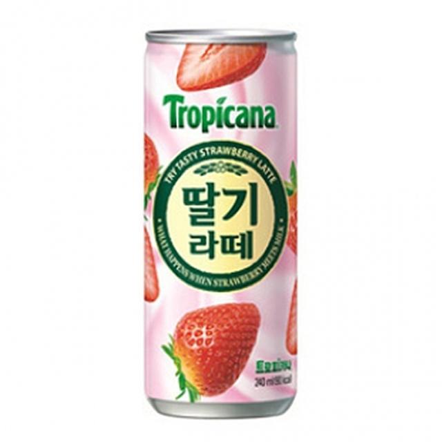 칠성)트로피카나 딸기라떼 240ml x 30캔 믿을 수 있는 정품 정량TycheLiz, 단일상품
