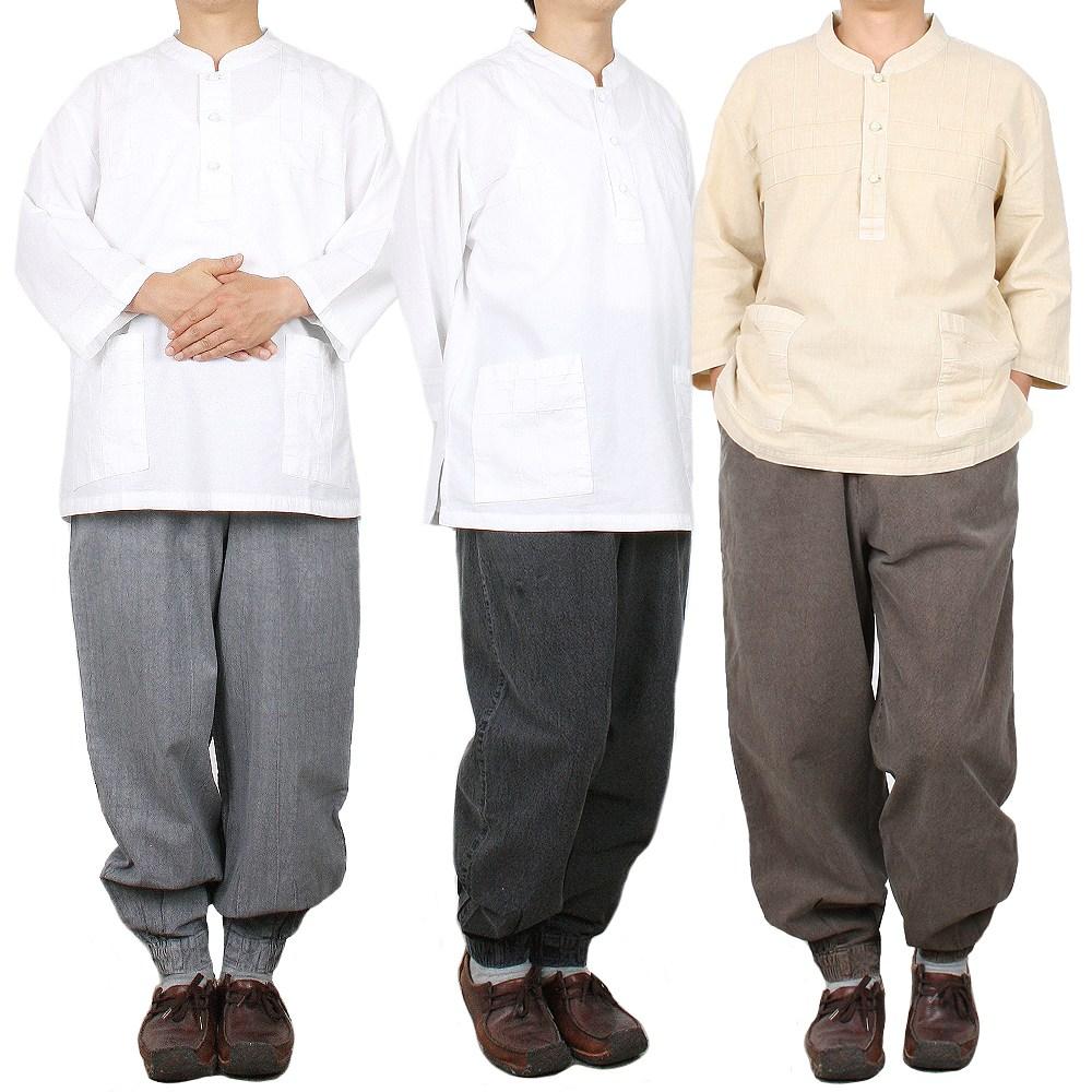 단아한의 남성 생활한복 와플 7부세트