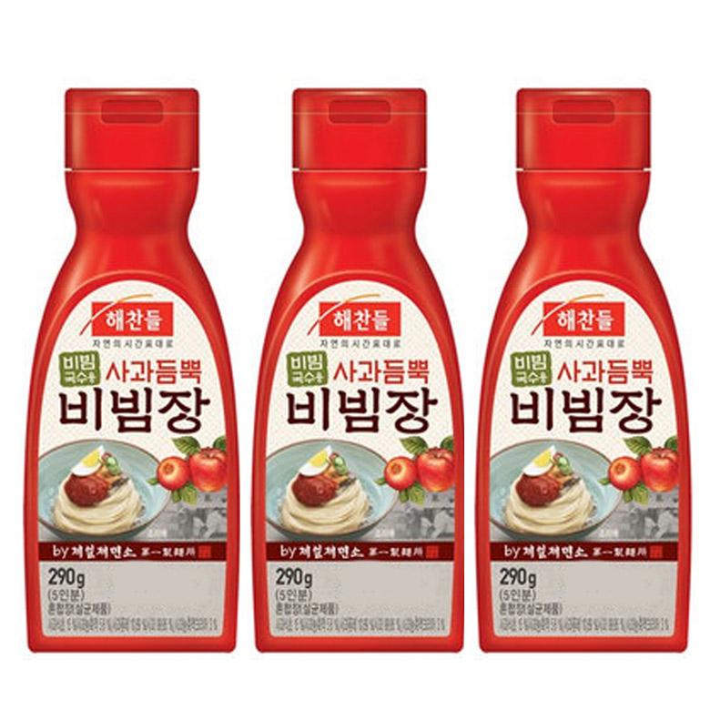 해찬들 사과듬뿍 비빔장, 290g, 3개
