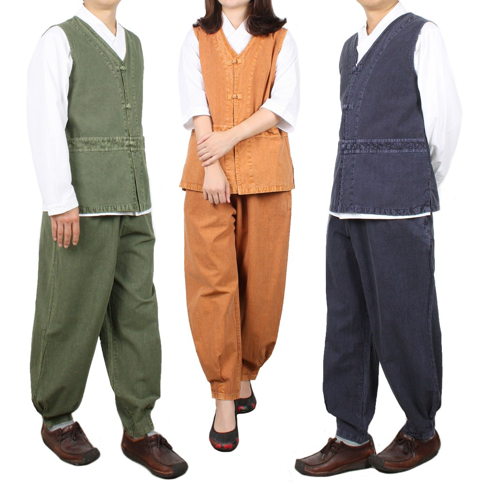 단아한의 남성 생활한복 보송이조끼세트