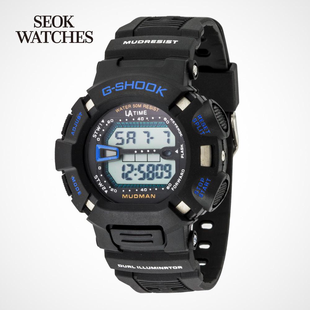 LA TIME LT-01 군용 군인 전자 손목 시계