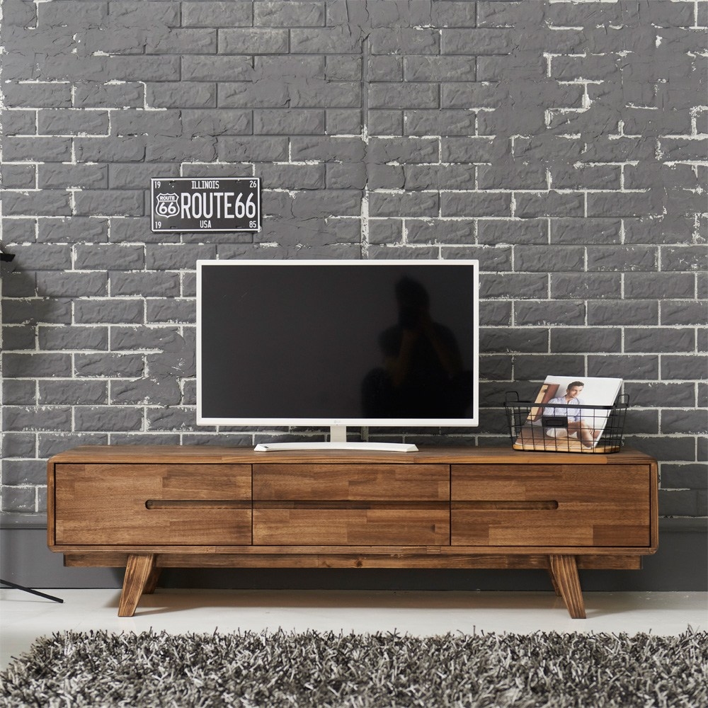 다올퍼니 북유럽 원목 거실장 TV거실장, B-1 1500 서랍형 거실장 - 엔틱