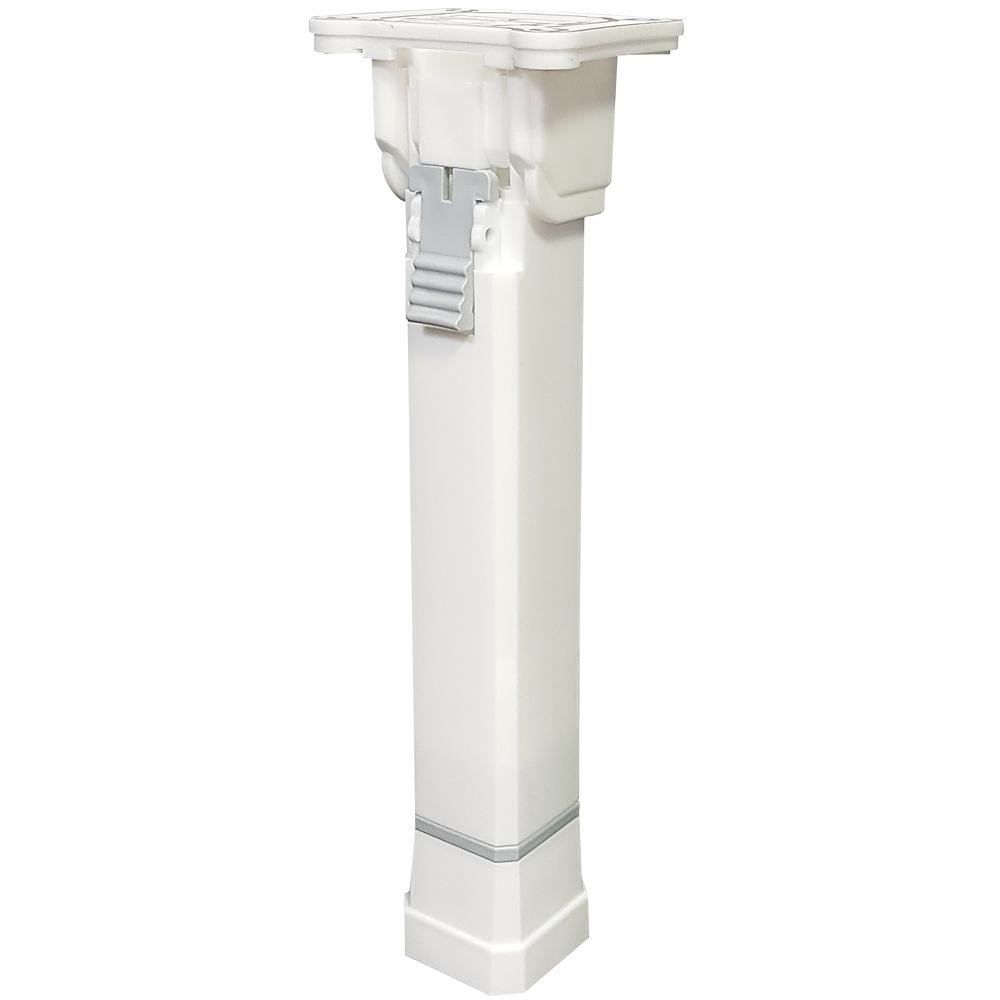 아이비스토어 국산 접이식 상다리 가구다리, 4단 플라스틱상다리-화이트