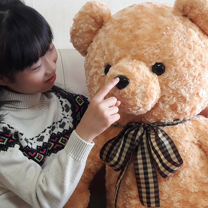 심쿵곰돌이 장미러브리본베어BIG_골드브라운 곰인형, 골드브라운(장미원단), 스킨130[표준100]