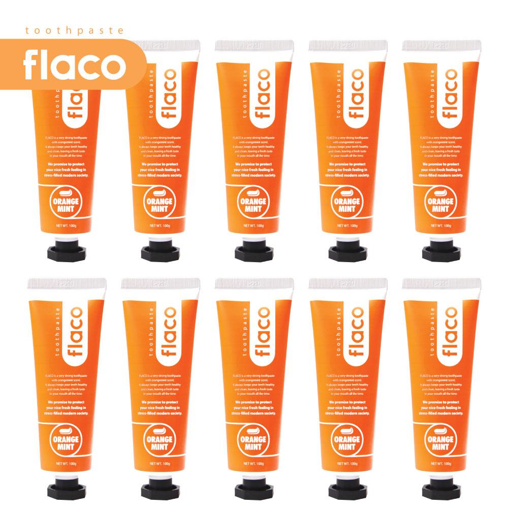 플라코 오렌지민트 치약, 10개