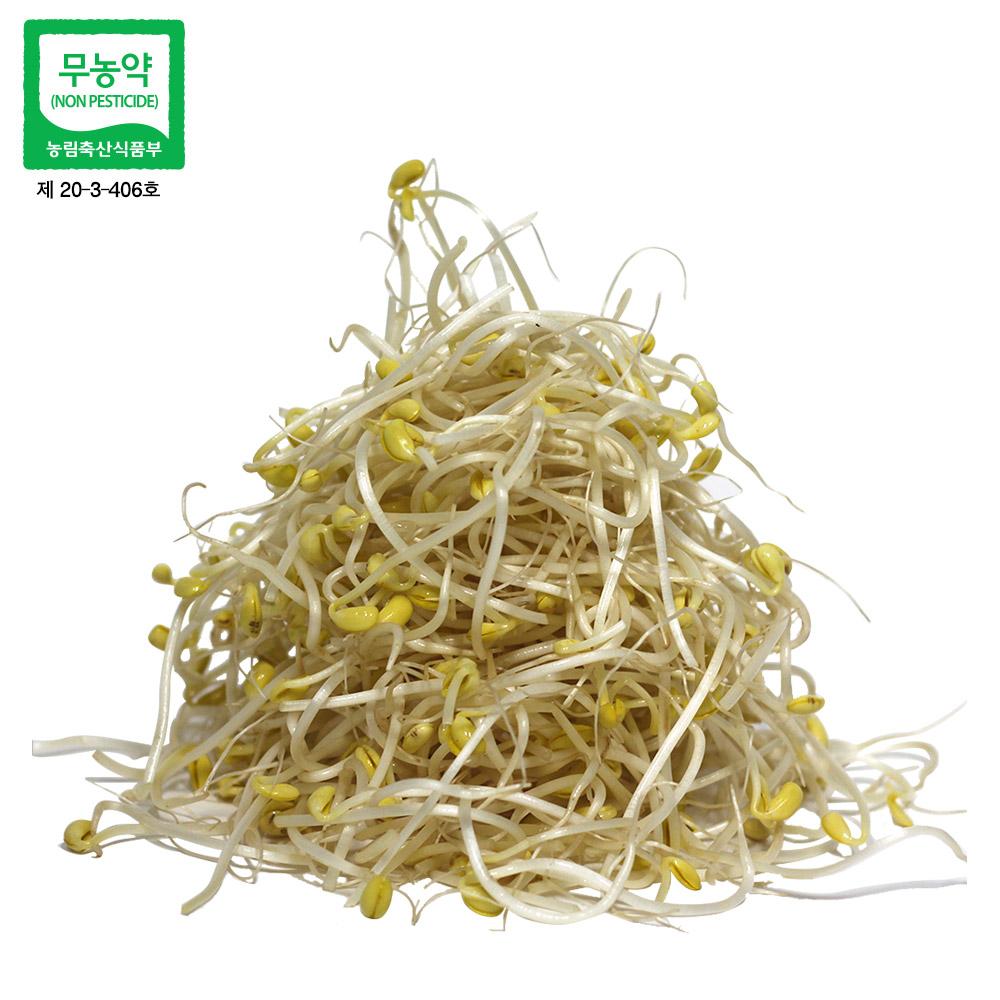 농부마음 친환경인증 무농약 산소콩나물 콩나물, 1kg