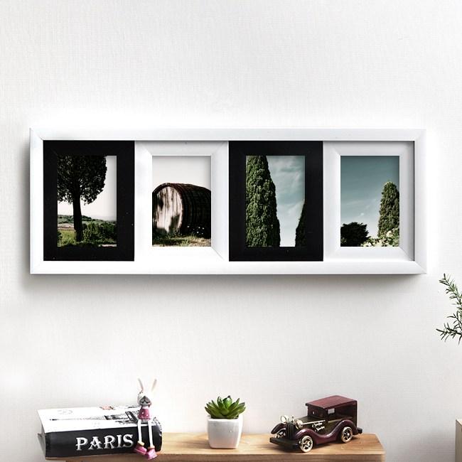 갤러리 인테리어 사진 액자(4×6)(일자형) 사진 액자 사진액자 포토액자 인테리어액자 세트액자 액자세트 벽걸이액자 가족 결혼 웨딩 돌잔, 단일 프레임색상