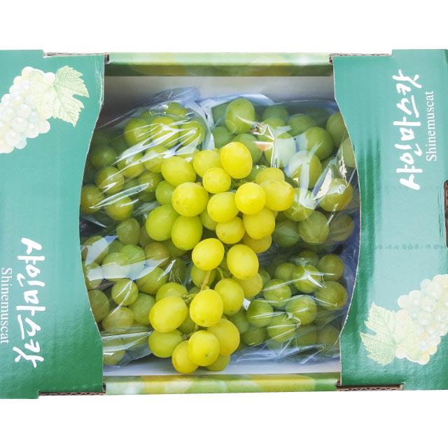 껍질재 먹는 경북 김천 고당도 샤인머스켓 망고포도 2kg(3~4송이), 1box