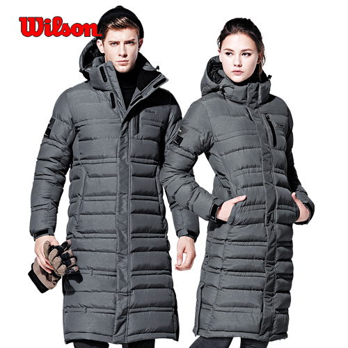 윌슨 브랜드특가 881UGE 남녀공용 롱패딩 방한자켓 겨울점퍼