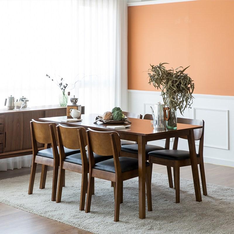 찰스퍼니처 고메 와이드 6인용 식탁세트, 브라운(의자6)