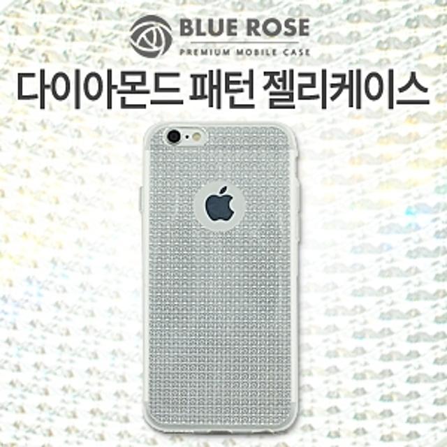 [휴대폰 케이스] (BLUE ROSE 블루로즈)갤럭시S7엣지(G935) 다이아몬드 패턴 젤리케이스(투명), 해당상품결정요, 1