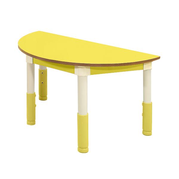 다우미 포미니 높이조절 유아책상의자, 반원책상_노랑