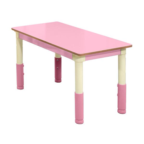 다우미 포미니 높이조절 유아책상의자, 사각책상_연분홍