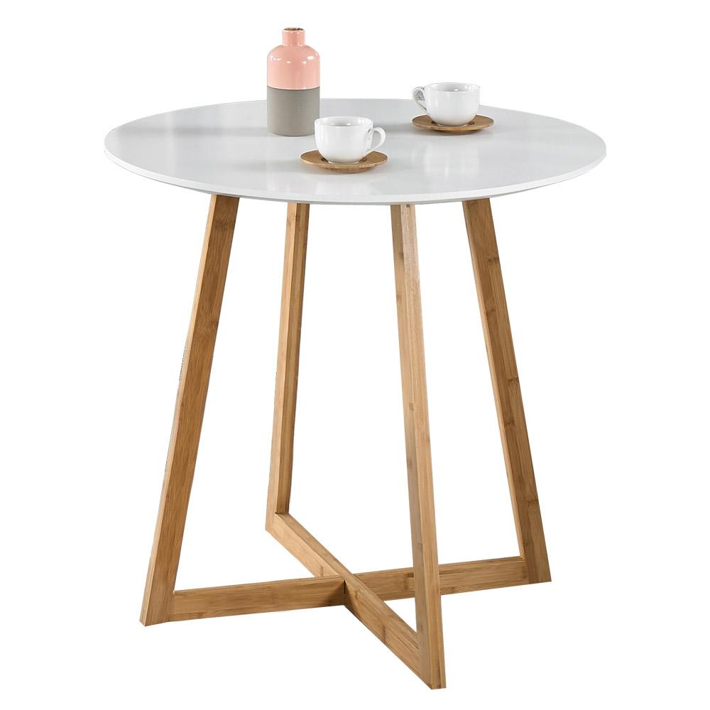 프리메이드 제니 원형 티테이블 소파 테이블, 화이트800