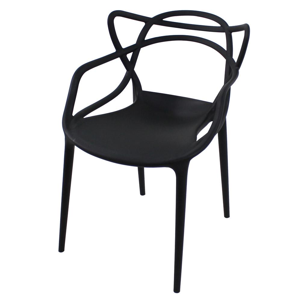 RM디자인 마스터체어 플라스틱 식탁 인테리어의자, 아일랜드체어-블랙