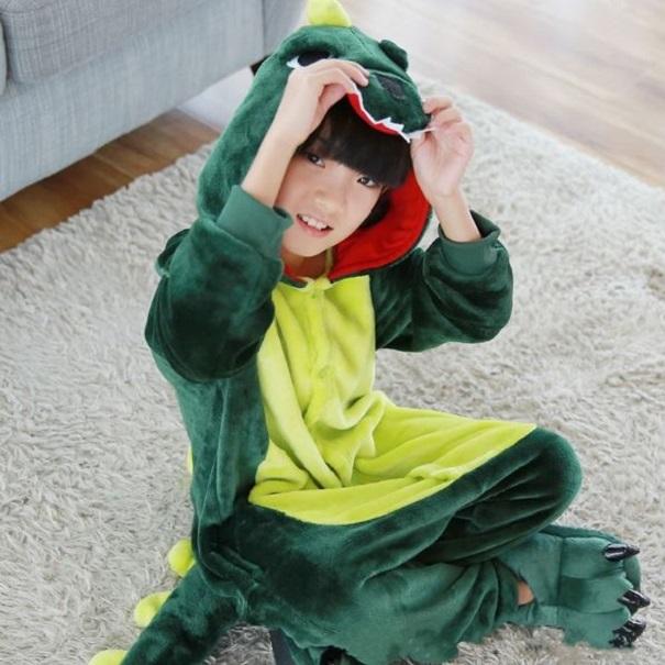 공룡기 할로윈 어린이 공룡 잠옷 동물잠옷 그린 핑크 (2019 가을 겨울)