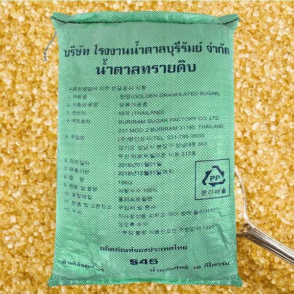 명인상사 비정제 원당 15kg 천연당 사탕수수 100% 마대, 1개
