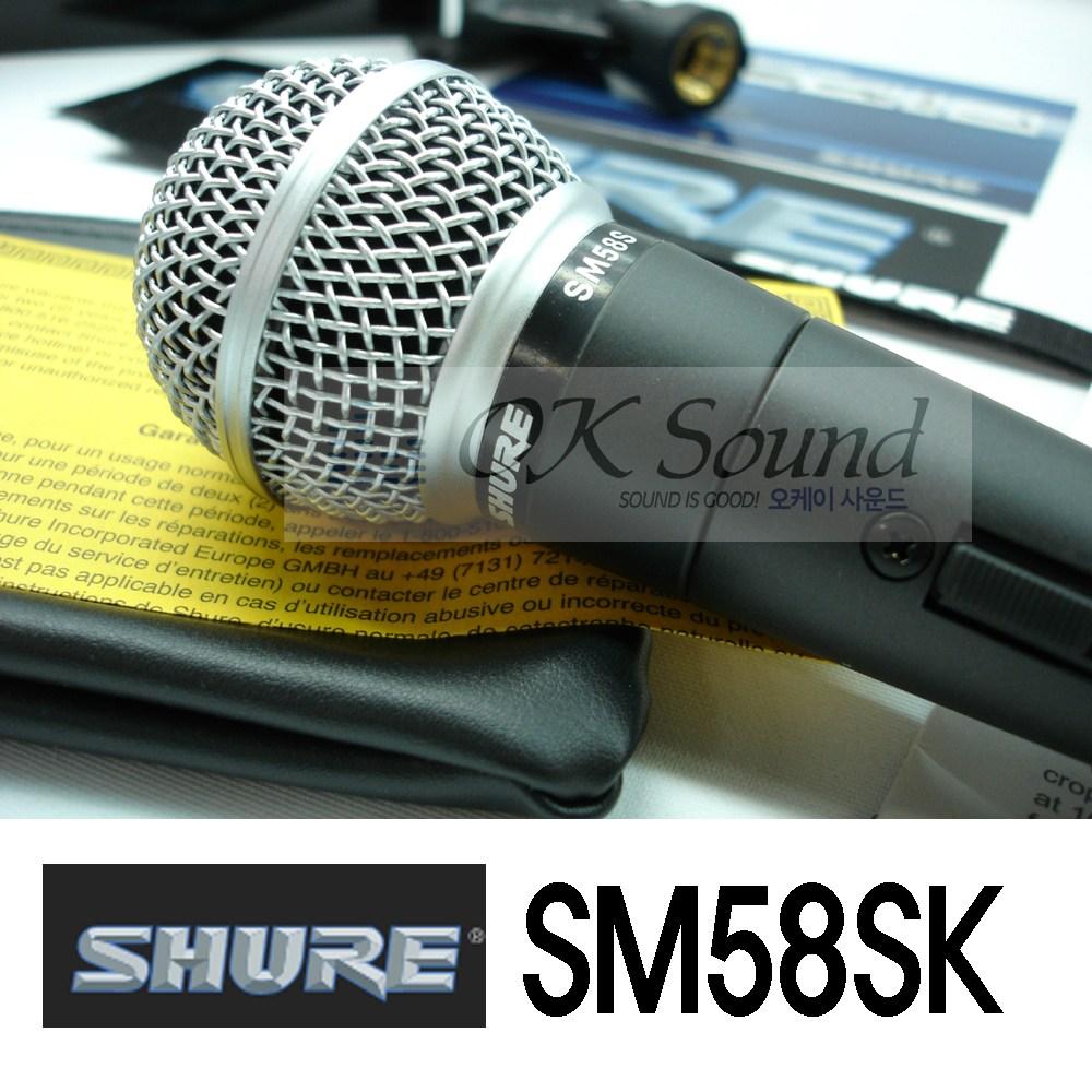SHURE 슈어 정품 SM58SK(스위치) 보컬마이크 다이나믹 마이크, SM58SK