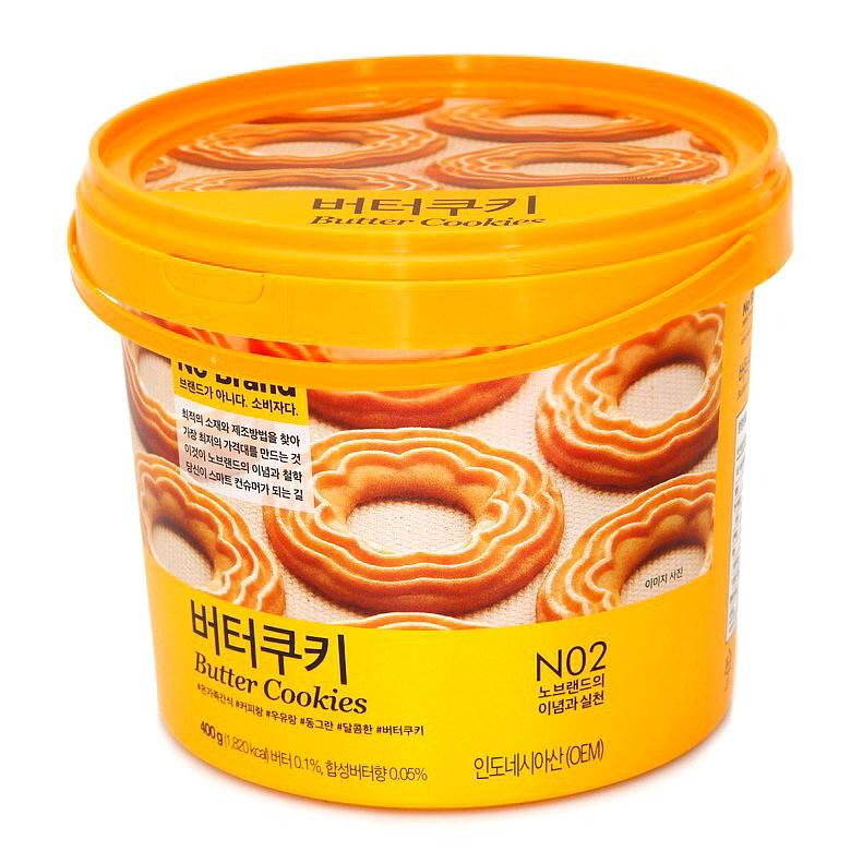 (노브랜드) 버터쿠키 400g 쿠키 비스킷 크래커 Free-단일사이즈, 단일상품