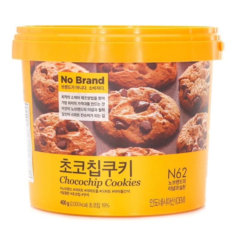 (노브랜드) 초코칩쿠키 400g 쿠키 비스킷 크래커 Free-단일사이즈