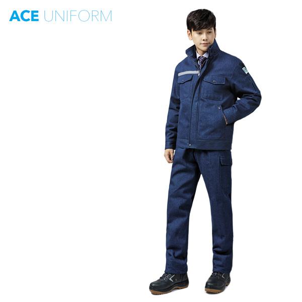 그린사몰 청작업복 용접복 용접작업복 겨울작업복 방한복