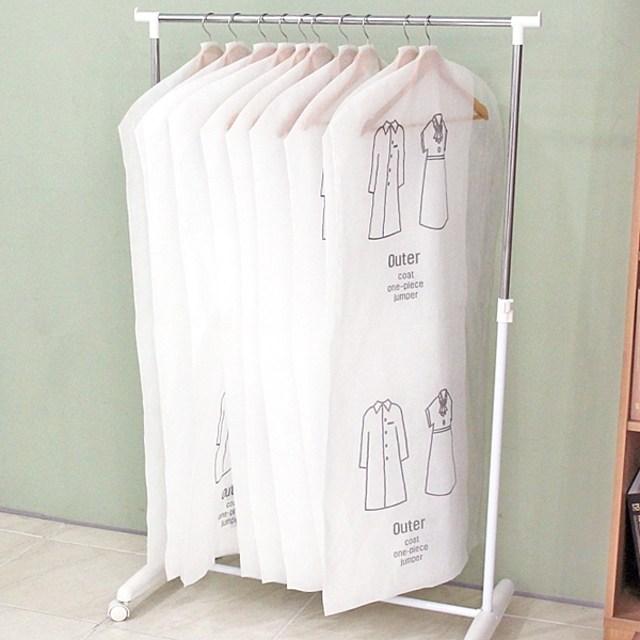 화이트베이직옷커버코트20장, 옵션선택, 코트20장