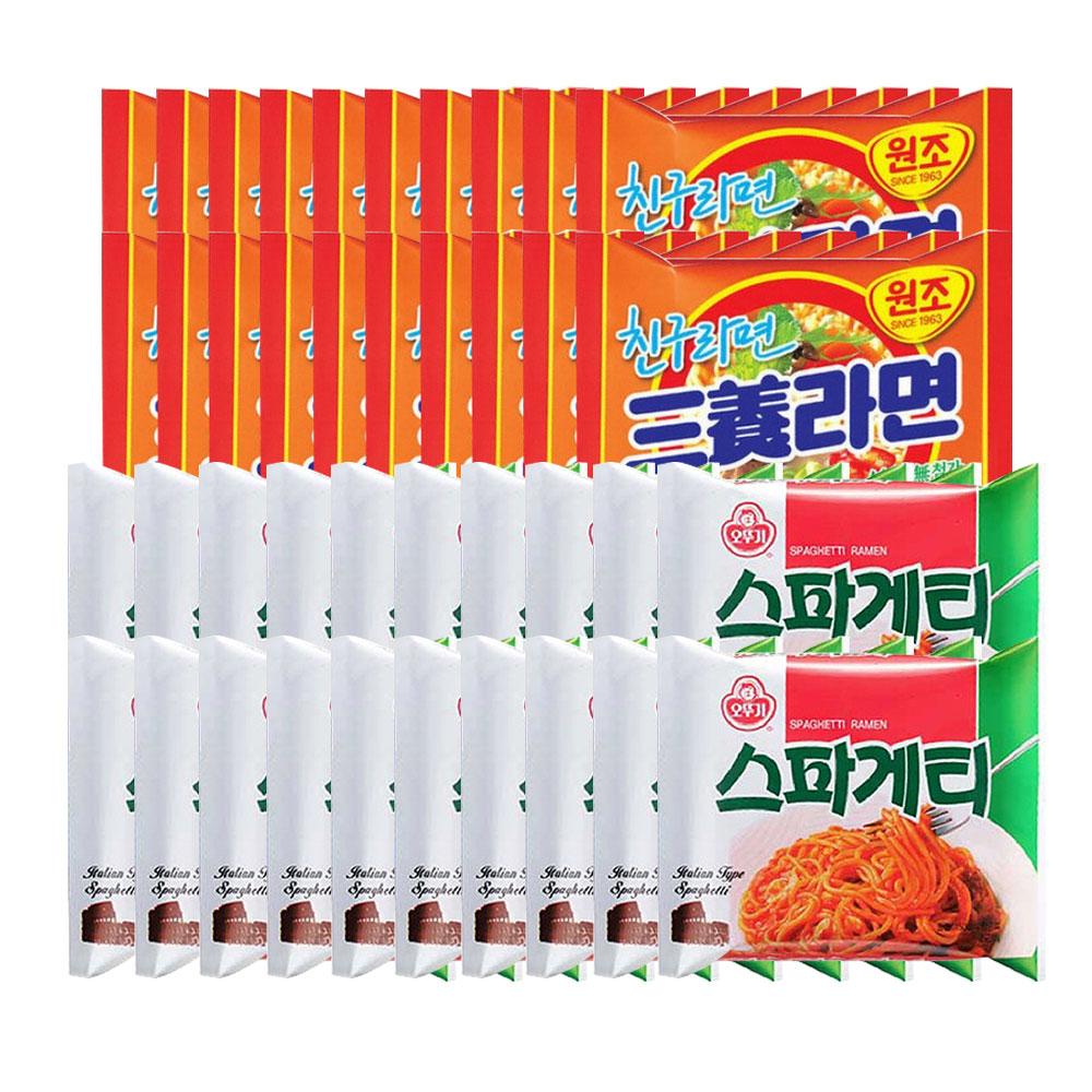 오뚜기스파게티 20개 + 봉지)삼양라면 20개, 40개
