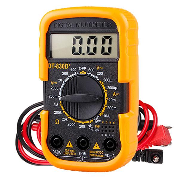 멀티미터 멀티테스터기 디지털 전기테스터기 전지 전류 저항 전압 측정기 전기공구, 1개