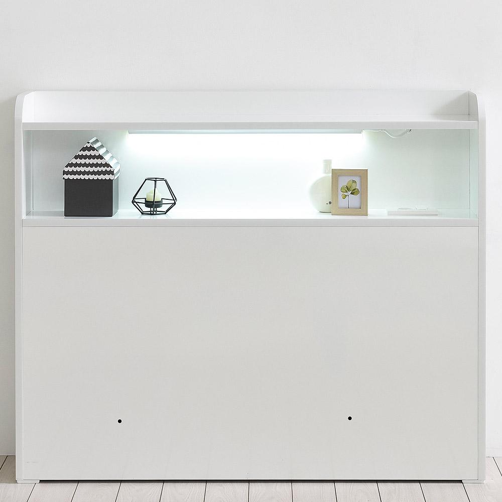 도노코코 도로시 슈퍼싱글 LED 침대 헤드보드 프레임, 침대 헤드만(화이트)