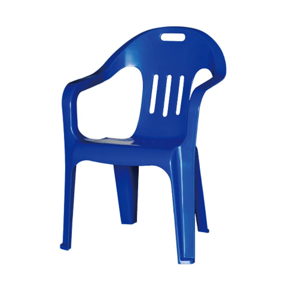 웰빙 [착불상품] 플라스틱의자 팔걸이의자 편의점 슈퍼 마트의자 행사의자, 파랑색