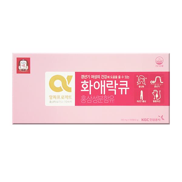 정관장 화애락큐 120정 1박스/갱년기여성/갱년기영양제/홈앤쇼핑
