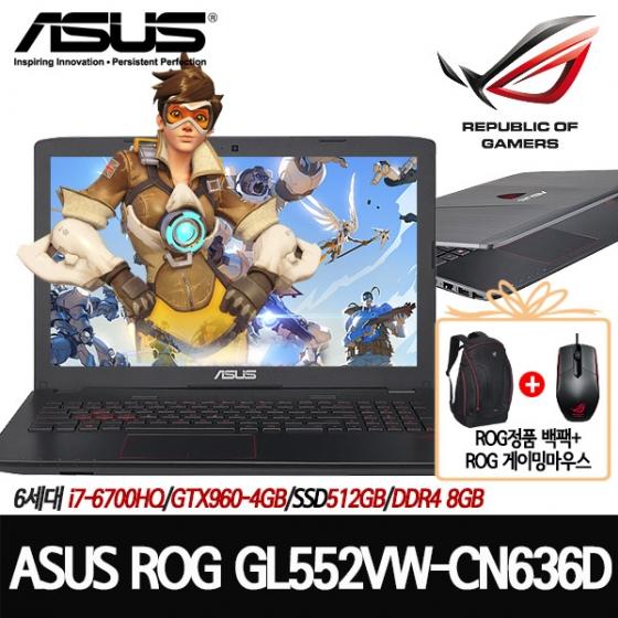 GL552VW-CN636D[i7-6700HQ/8G DDR4G/M2 512G/GTX960-4G/DVD멀티/프리도스], 해당없음, ASUS