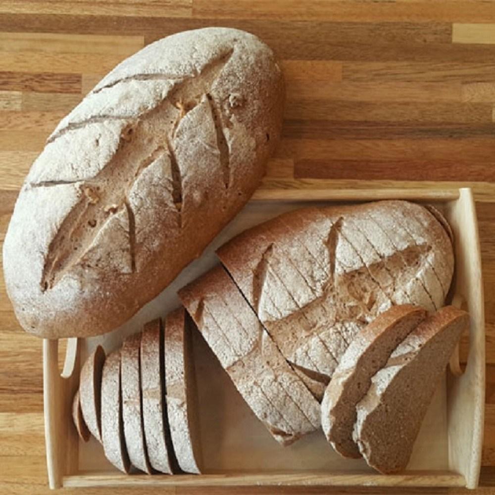 [더브레드천연발효빵] 유기농 100%통밀빵-뺑콩플레 1kg(건강빵 100%호밀빵 샌드위치식빵 비건빵 통밀식빵 운동빵), 1개