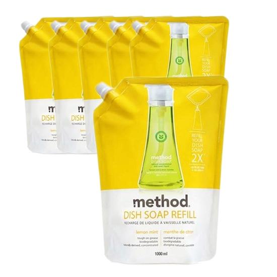 메소드 레몬민트 주방용 합성세제, 1L, 6개