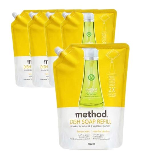 메소드 레몬민트 주방용 합성세제, 1L, 5개