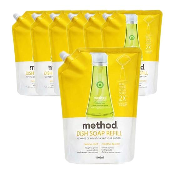 메소드 레몬민트 주방용 합성세제, 1L, 7개