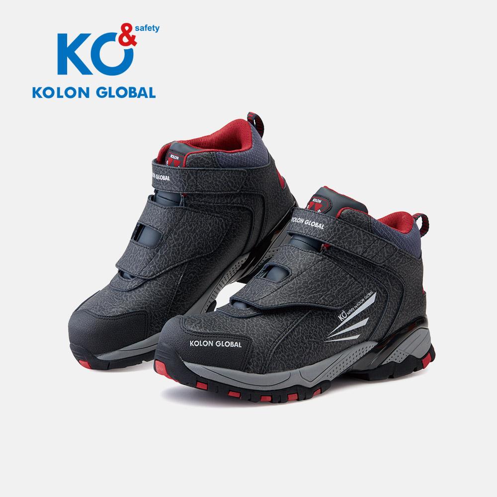 코오롱글로벌 안전화 KG-62 와이드토캡 벨크로 건설화 작업화