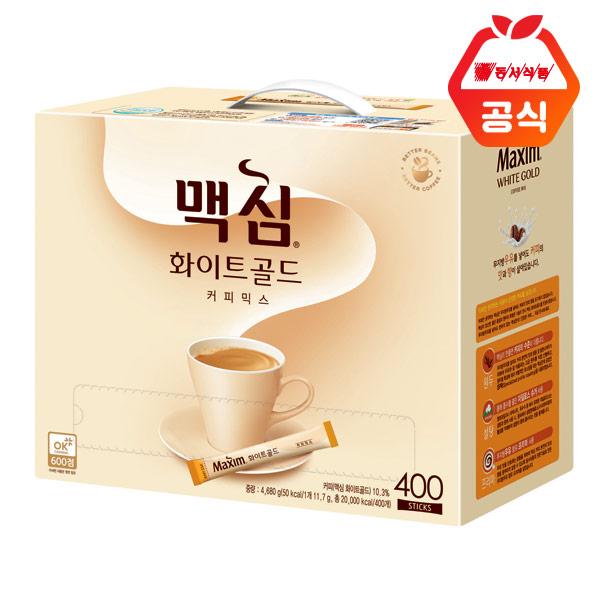 맥심 화이트 골드 커피믹스 스틱, 11.7g, 400개