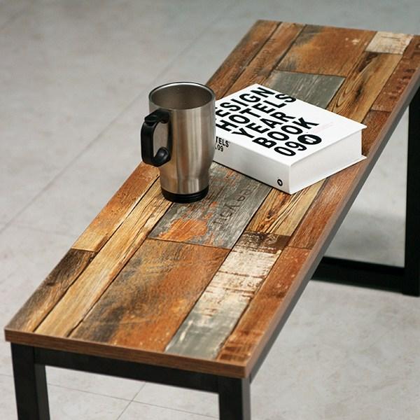 빈티지 카페 벤치 의자, 빈티지벤치의자_블랙(YWC2082-BK)