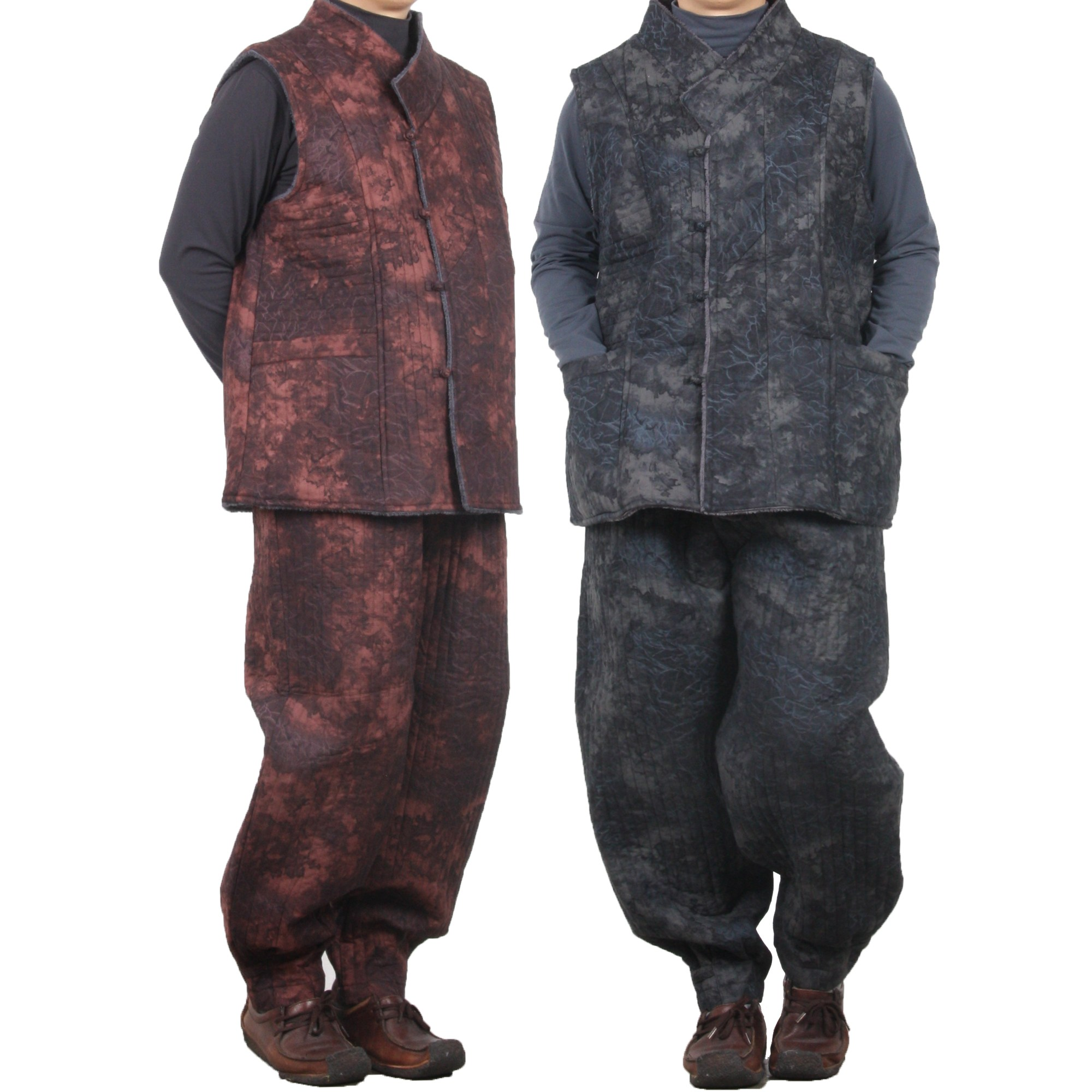 단아한의 남성 생활한복 담나염조끼세트