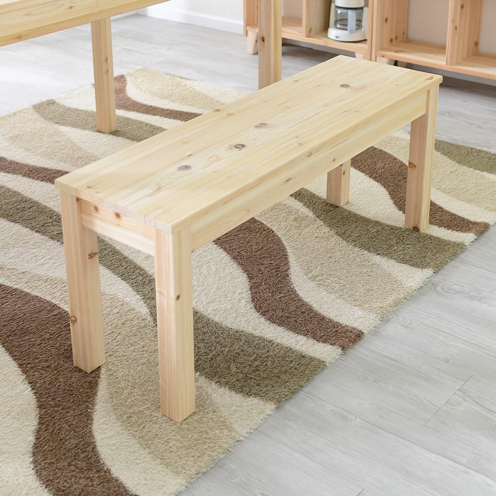 다니엘우드 삼나무 원목 2인벤치 스툴 체어 식탁 긴 의자, 2인벤치 (삼나무)