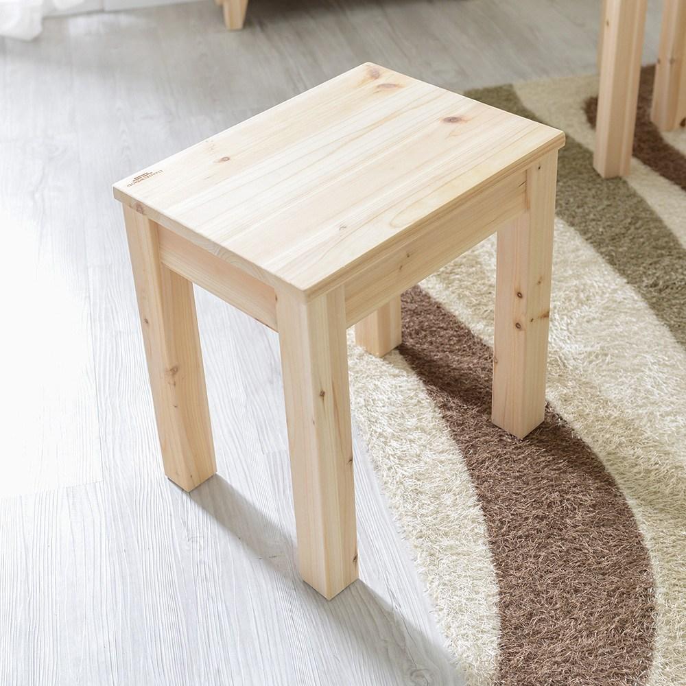 다니엘우드 삼나무 원목 1인 의자 식탁 벤치 스툴, 1인벤치 (삼나무)