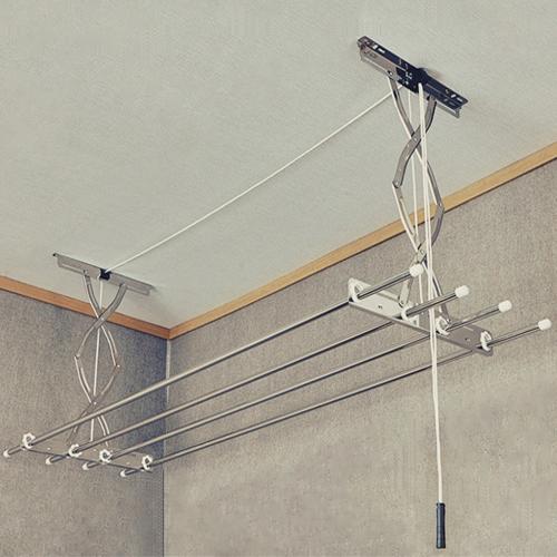 공간채움 [설치비 현장결제] 올스테인레스 베란다 천장 빨래건조대 2단1.9m, 1개