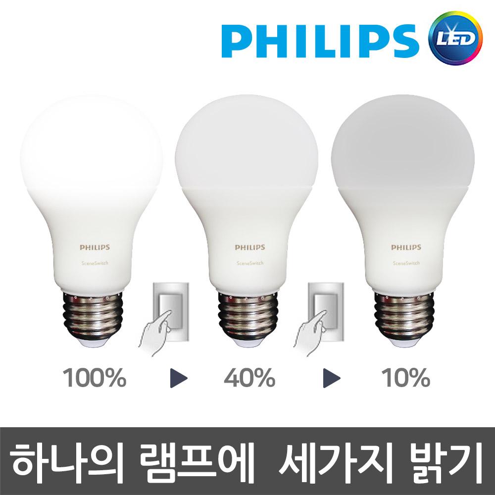 필립스 스텝디밍 색변환 LED전구 모음, 필립스 스텝디밍 LED 9W 주광색