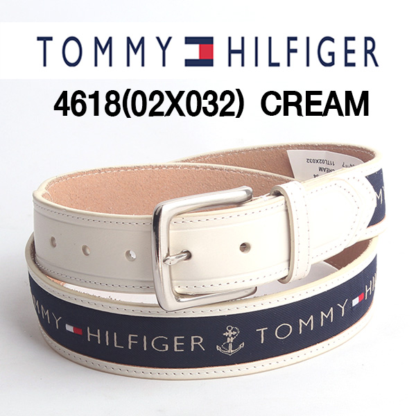 Tommy Hilfiger 타미힐피거 벨트 4618 CREAM (크림) 빅사이즈 44까지